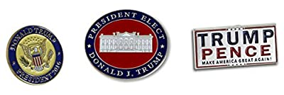 President Elect Donald J. Trump & Trump Pence Make America Great Again! Pin Set