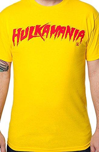 WWE Hulk Hogan Hulkamania Men's TShirt - Yellow (XX-Large)