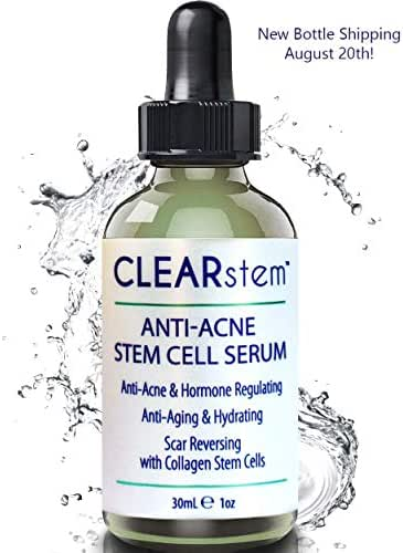 CELLrenew by CLEARstem - Anti-Aging Peptide & DNA Repair Serum, Collagen Stem Cell - Topical Facial Serum & Hyaluronic Acid - Hydration Moisturizer, Scar Removal & Acne-Safe - Made in USA - 1 fl oz