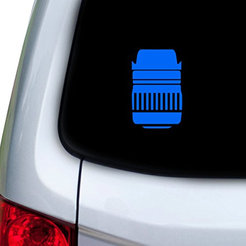 StickAny Car and Auto Decal Series Dslr Lens Sticker for Windows, Doors, Hoods (Blue)