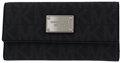 Michael Kors Womens Jet Set 32F1GJSE4B Checkbook Wallet Black