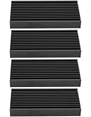 4Pcs Aluminum Heat Sink, Heatsink Heat Sink Chip Cooling Fin Heat Sink Black Heat Sink, 50 x 12.7 x 100mm / 2 x 0.5 x 4in