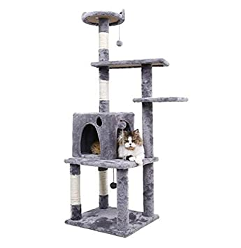Amazon.com: Big Cat Tree Tower Condominio muebles rascador ...