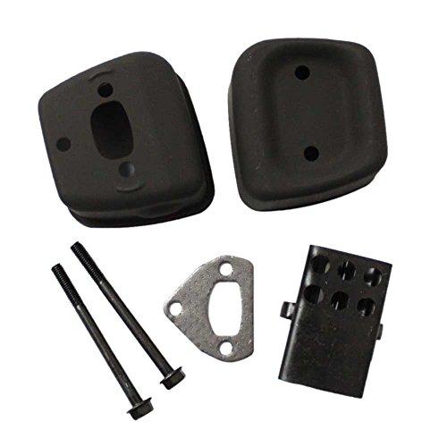Super Parts New Pack of Exhaust Muffler + Gasket + 2 Bolts fit for Husqvarna 36 41 136 137 141 142 Chainsaw Replaces 545006044