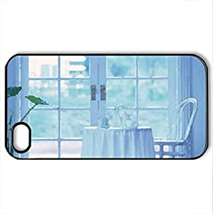 Balcony - Case Cover for iPhone 4 and 4s (Watercolor style, Black)