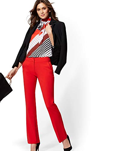 New York & Co. 7Th Avenue Pant - Mid Rise - 8 Bell Pepper Red