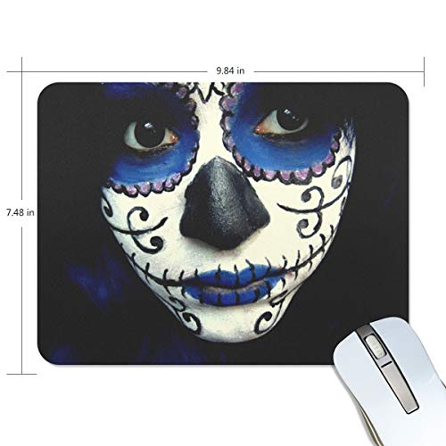 Mouse pad Guy Sugar Skull Makeup The Office mat Mouse pad Nonslip Rubber Backing for $<!--$10.99-->