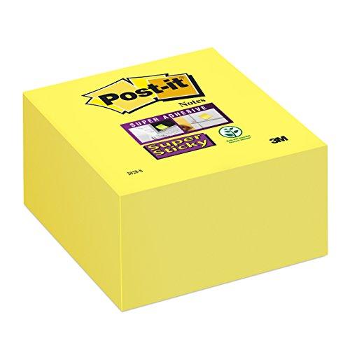 Post-it 2028-S Haftnotiz Super Sticky Würfel, 74 g, 76 x 39 x 76 mm, narzissengelb, 350 Blatt