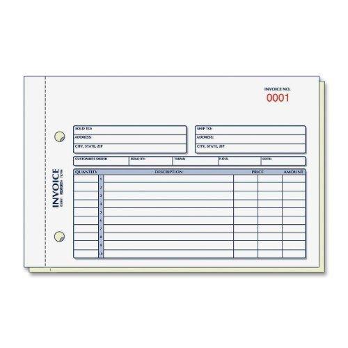 (Rediform 7L721 Invoice Book 5 1/2 x 7 7/8 Carbonless Duplicate 50 Sets/Book)