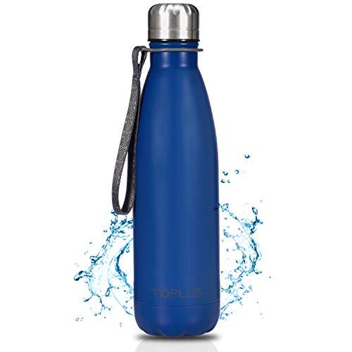 🥇 TOPLUS Botella de Agua Acero Inoxidable 304 Termo – 500ml