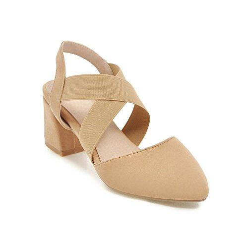 violento sandali sandali i e tacchi sandali con donne dei colore sandali le moda sharp e albicocca di alti 35 wZYzn5gq