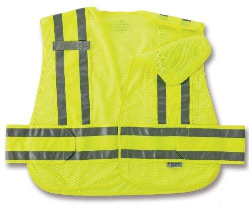 (Ergodyne GloWear 8244PSV Expandable Public Safety Vest, Lime, Medium/Large by GloWear )