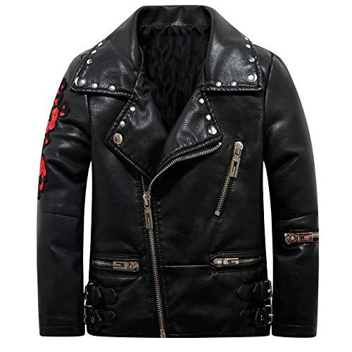 The Twins Dream Girls Leather Jacket Kids Leather Jackets Boys Motorcycle Jacket Girls Coat -