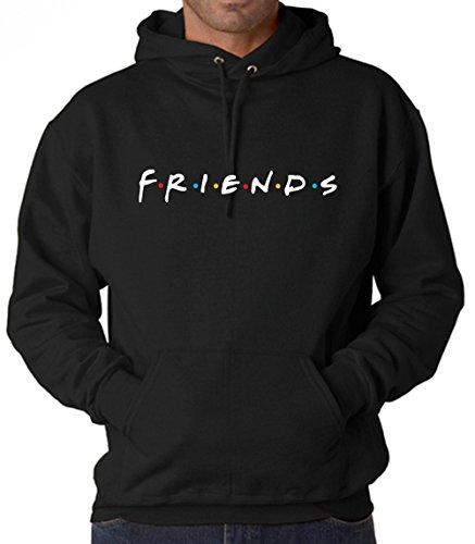 Mens Tv Shows (Uzair Friends TV Show Hoodies Unisex (Black,)