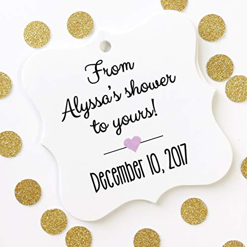 From My Shower To Yours Baby or Bridal Shower Favor Hang Tags (FS-067) (Bridal Hang Tags)