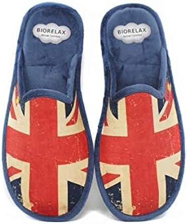 Zapatillas Biorelax Hombre Bandera UK - Rojo, 41: Amazon.es: Ropa y accesorios
