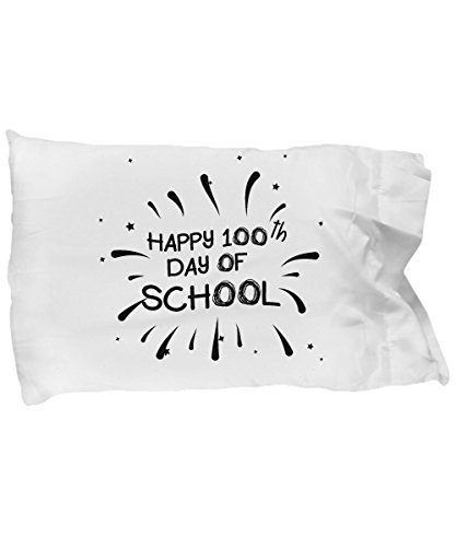 (Cute Pillow Covers Design Happy 100th Day of School Gift Pillow Cover)