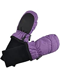 Kid's Waterproof Stay On Winter Nylon Mittens Extra Small - No Thumbs