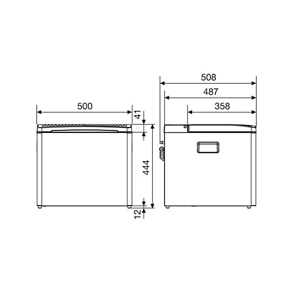 4137seomXHL Dometic CombiCool RC 1200 EGP - lautlose, elektrische Absorber-Kühlbox mit Gas-Anschluss 50 mbar, 40 Liter, 12 V und 230…
