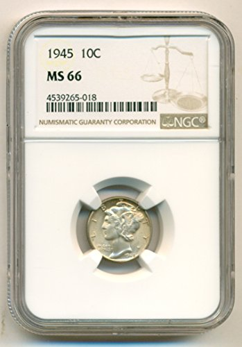 1945 Mercury Dime MS66 NGC