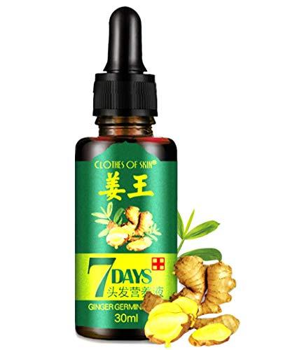 Ginger Germinal Oil, Hair Growth Oil, 2019 Hair Growth Ginger Essential Oil, Ginger Germinal Essential Oil,Hair Loss Treatment Hair Care Hair Growth Serum for Men & Women 30ml