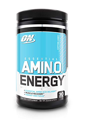OPTIMUM NUTRITION ESSENTIAL AMINO ENERGY, Cotton Candy, Keto Friendly BCAAs, Preworkout and Essential Amino Acids with Green Tea and Green Coffee Extract, 30 Servings