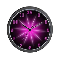 CafePress - Pink Neon Star - Unique Decorative 10 Wall Clock