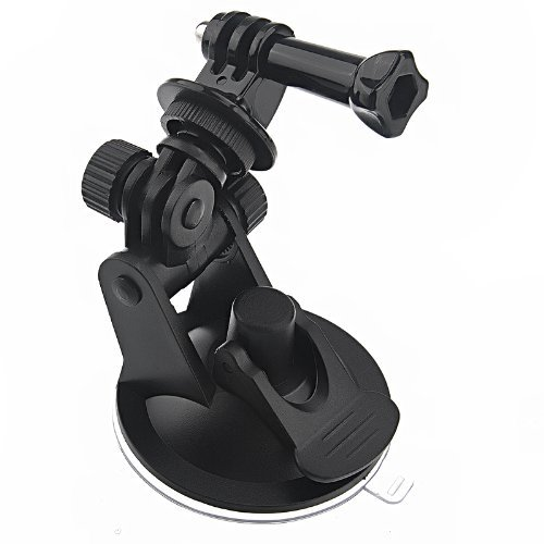 SODIAL(R) Mini Car Suction Cup Base Holder Tripod Mount Adapter for GoPro HD HERO 2/3/3+ ST-51 black
