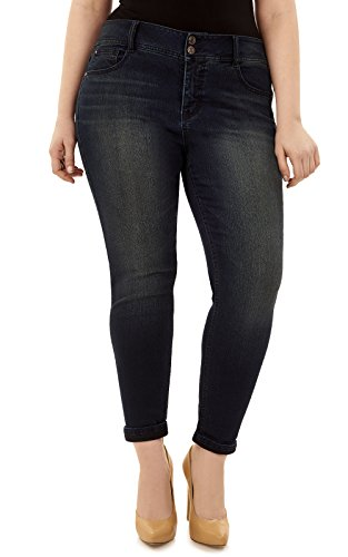 Angels Women's Plus Size Curvy Convertible Jeans in Aire (Plus Size Angel)