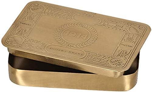 TZSMSSH Joyero Joyas Caja de Caja de Almacenamiento de latón Manual de Almacenamiento Caja joyero Rectangular: Amazon.es: Hogar