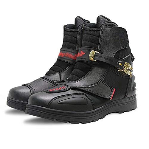 JRYⓇ Motorradstiefel für Herren – Motorrad gepanzerter Lederstiefel Leder Racing Riding Sports Touring Boots