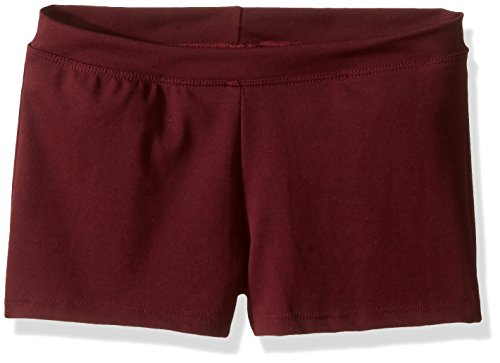 Capezio Little Girls' Boy Cut Low Rise Short,Maroon,S (4-6)