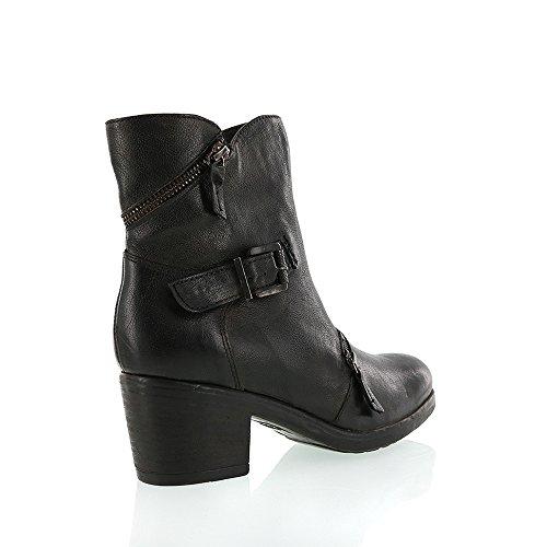 8100 Melrose Nye Skinn Plattform Kort Boot Sort