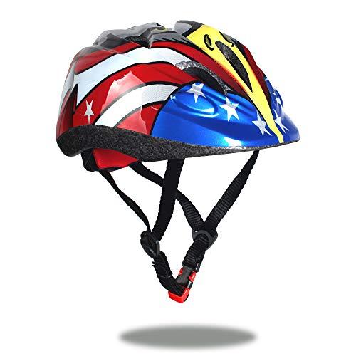 Sarik Kids Bike Helmet 2-6 Years Toddler Helmet Multi-Sports Roller Bicycle BMX Bike Skateboard Scooter Cycling Adjustable Helmets for Kids with CPSC Certified (Eagle-Black)
