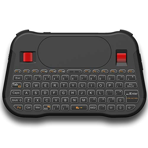 Favormates Mini Wireless Keyboard/Air Remote Control/Mouse/Touchpad with Colorful Backlit, 2.4GHz Connection, Best for Android TV Box, HTPC, IPTV, PC, Raspberry pi 3,Pad and More Devices