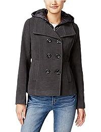 Womens Hooded Pea Coat