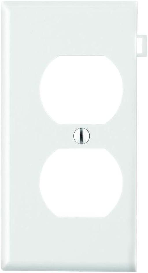 Leviton 002-0PSE8-00W End Panel Sectional Wallplate For Multi-Gang Installation, White