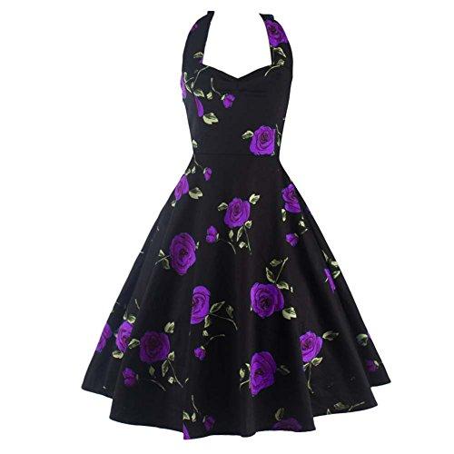 50s style bridesmaid dresses purple - 7