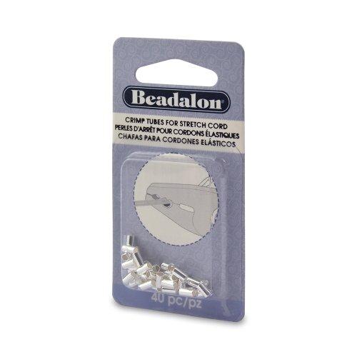 Beadalon 40 Piece Crimp Silver Stretch