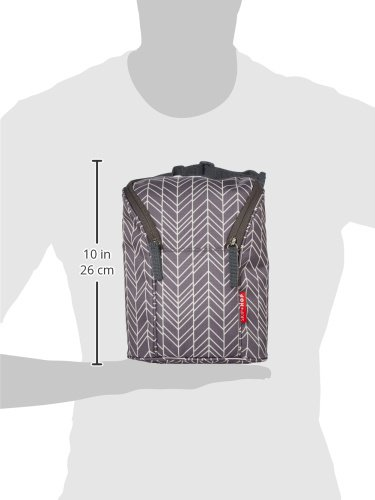 Skip Hop Insulated Breastmilk Cooler And Baby Bottle Bag, Grab & Go Double, Grey Feather by Skip Hop (Image #6)
