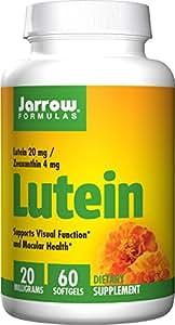 Jarrow Formulas Lutein, Supports Visual Function, 20 mg, 60 Softgels