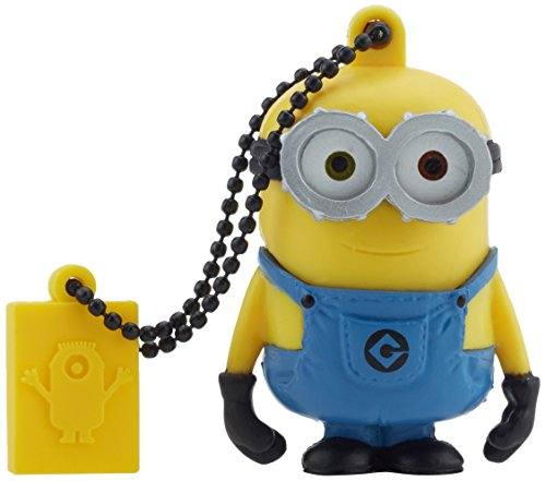 Price comparison product image Tribe FD021520 Minions Despicable Me Bob USB Stick 16GB Pen Drive, Gift Idea 3D Figure, PVC USB Gadget with Key holder Key Ring, Yellow