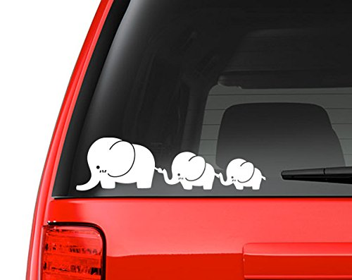 Macbook White 5 Vinyl Decal for Car or Other Laptop mmd/_CuteElephantFamily Milk Mug Designs Cute Elephant Family Decal Sticker