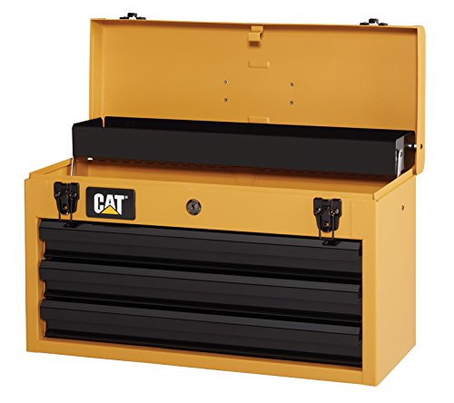 Cat 3-Drawer Portable Steel Tool Chest, Yellow Finish, (Chest Cat)