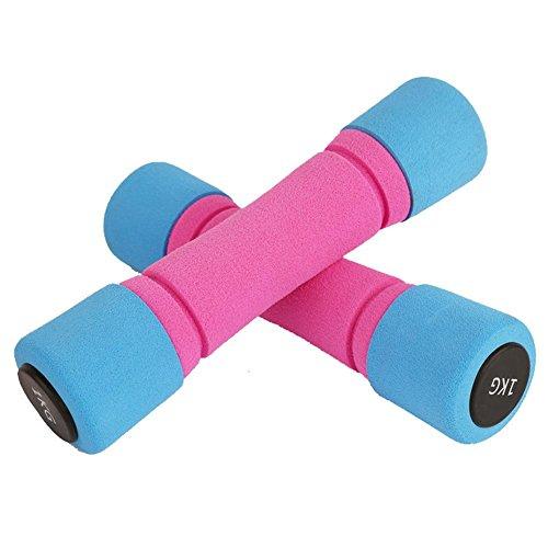 LOERO Bras de la main haltères poids Fitness gymnase à la maison exercice Barbell 0.75 kg, 1 kg, 1.5 kg, 2 kg, 3 kg poids paires lourdes poids dames haltères hommes
