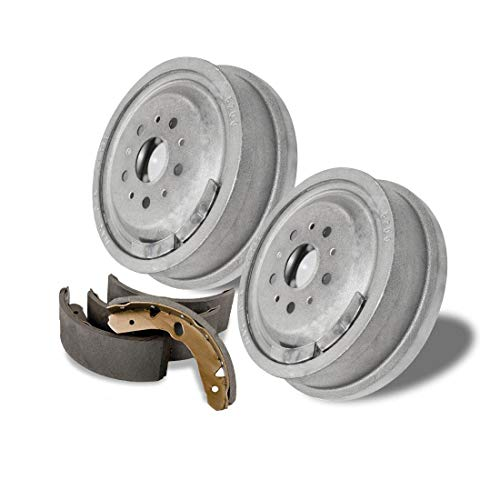 AutoDN Rear Brake Drums and Shoes OE Replacement For Mitsubishi Mirage 1997-2002 ()
