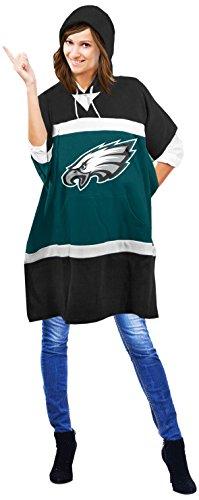 NFL Philadelphia Eagles Hoodie Poncho, 70.5 x 32-Inch, Green
