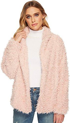 Romeo & Juliet Couture Women's Fluffy Fur Coat Blush Small
