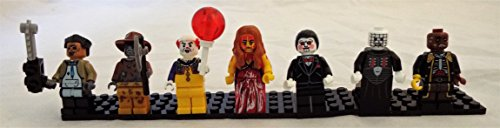 Horror Movie Set of 7 Mini Figures Fit All Lego Playsets w/ Pennywise, Leatherface, Pinhead, Jigsaw