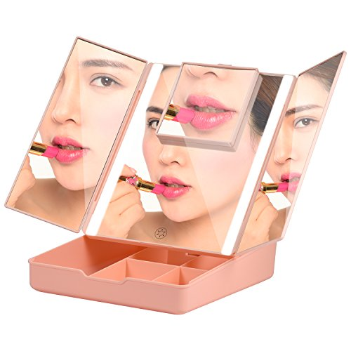Fascinate Makeup Vanity Mirror With Lights, Brightness Control Makeup Mirror with Magnification, Touch Cosmetic Table Mirror With Storage by Fascinate (Image #3)